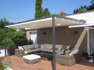 referenzen pergola terrassend cher beschatung storen wind und regenschutz sonnenschutz sichtschutz. Black Bedroom Furniture Sets. Home Design Ideas