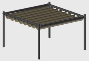 Pergola Regenschutz venezia pergola terrassendächer beschatung storen wind und